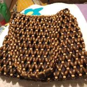 Handbags - Vintage Wood Beaded Small Bag (A)